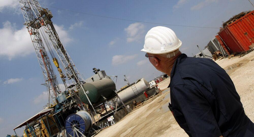 Oil-drilling platform in Israel