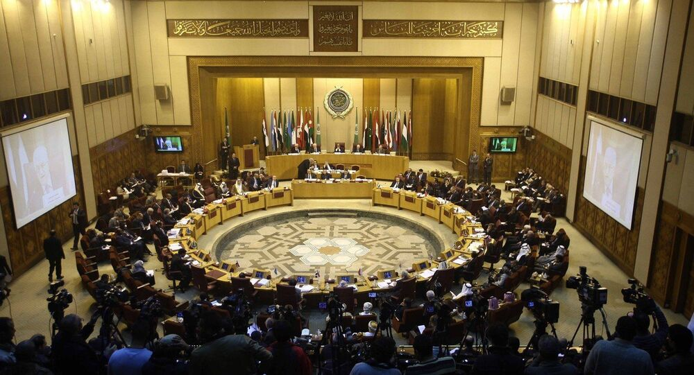 An emergency meeting is held by foreign ministers of the Arab League in Cairo, Egypt, Jan. 15, 2015