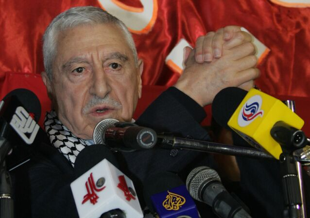 Democratic Front for the Liberation of Palestine (DFLP) chief Nayef Hawatmeh