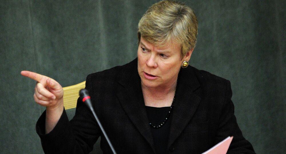 US Assistant Secretary Secretary of State and New START negotiator Rose Gottemoeller