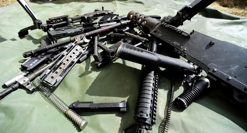Parts from different weapon systems at the US Army Europe Best Warrior Competition.