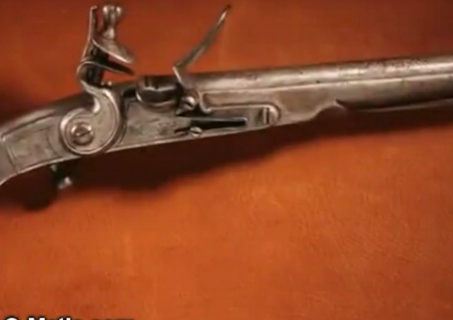 The retired teacher, who collects 18th century history antiques, was found possessing a 300-year-old unloaded, flintlock pistol.