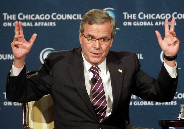 """For the life of me, I don't understand – the debate has gotten off track, where we're not understanding and protecting,"" Jeb Bush said about criticism of the NSA at the Chicago Council for Global Affairs."