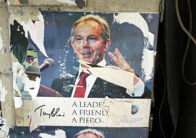 Tony Blair ripped poster