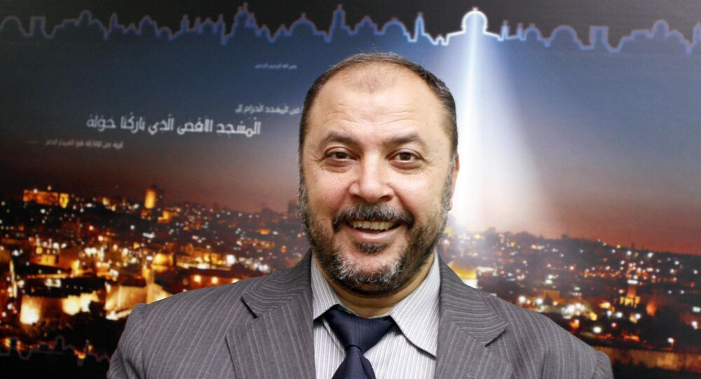 Deputy of Islamic Action Front (IAF) Zaki Bani Irsheid speaks during an interview to the Associated Press. (File)