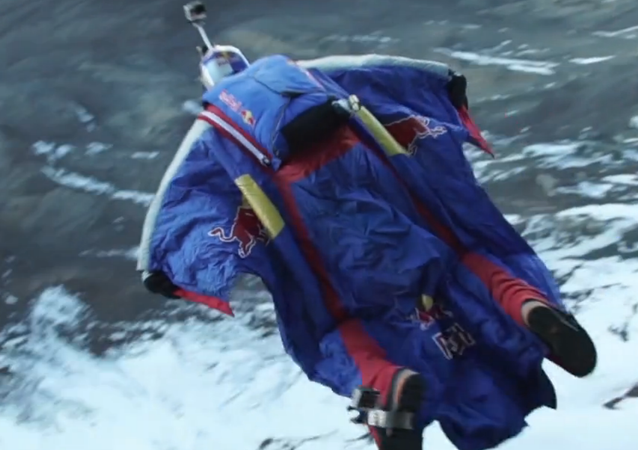 In a video recorded by Red Bull, Rozov spent more than one minute in free fall.