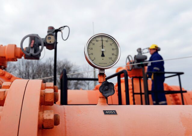 An engineer checks the gas distribution system in Beregdaroc, one of several points where Russian gas crosses into the European Union. File photo