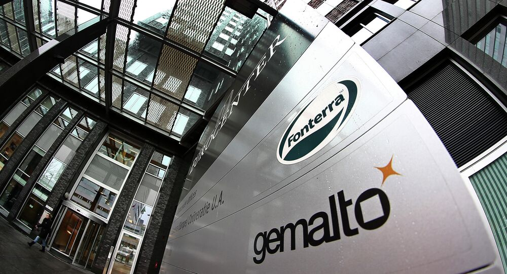 Exterior view of the building housing the head office of Gemalto, which produces subscriber identity modules, or SIM cards, in Amsterdam, Netherlands