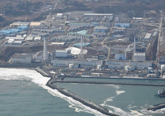 An aerial photo shows the Fukushima No. 1 nuclear power plant being decomissioned in Okuma, Fukushima Prefecture on Feb. 21, 2015, nearly 4 years after the plant diaster