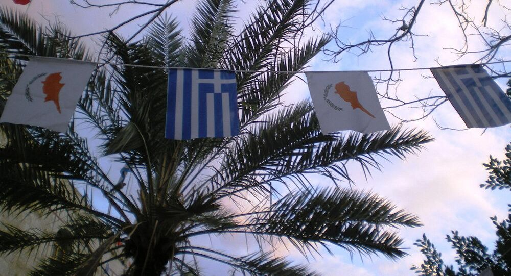 Cyprus, Greece flags