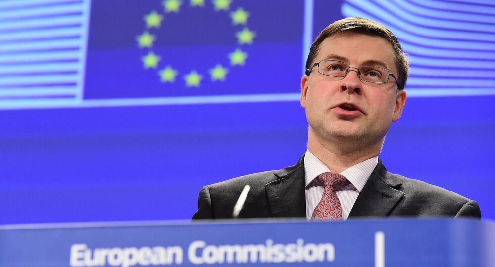 Valdis Dombrovskis, European Commission (EC) vice president for the Euro and Social Dialogue