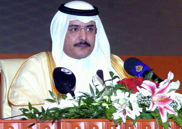 Qatar's Prime Minister Sheikh Abdulla Bin Khalifa Al-Thani inaugurates the International Petroleum Technology conference in Doha, Qatar