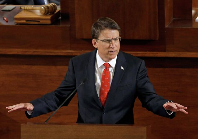 Gov. Pat McCrory delivers his State of the State address to a joint session of the General Assembly, Wednesday, Feb. 4, 2015 in Raleigh, N.C.