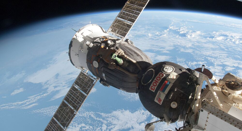 Soyuz Docked to Rassvet
