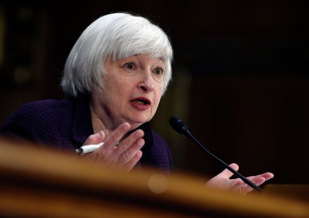 Federal Reserve Board Chair Janet Yellen testifies on Capitol Hill in Washington, Tuesday, Feb. 24, 2015