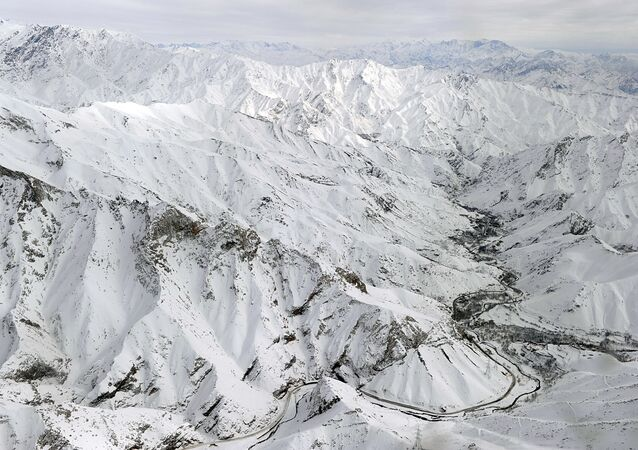 An aerial view shows Salang village covered with snow after avalanches killed at least 165 people at the Salang tunnel in Parwan province. File Photo