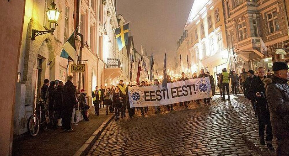 A torch-lit march held by the Conservative People's Party of Estonia was recently attended by a Swedish white nationalist organization, despite organizers' claims that the event had 'no connection to Nazi Germany'.
