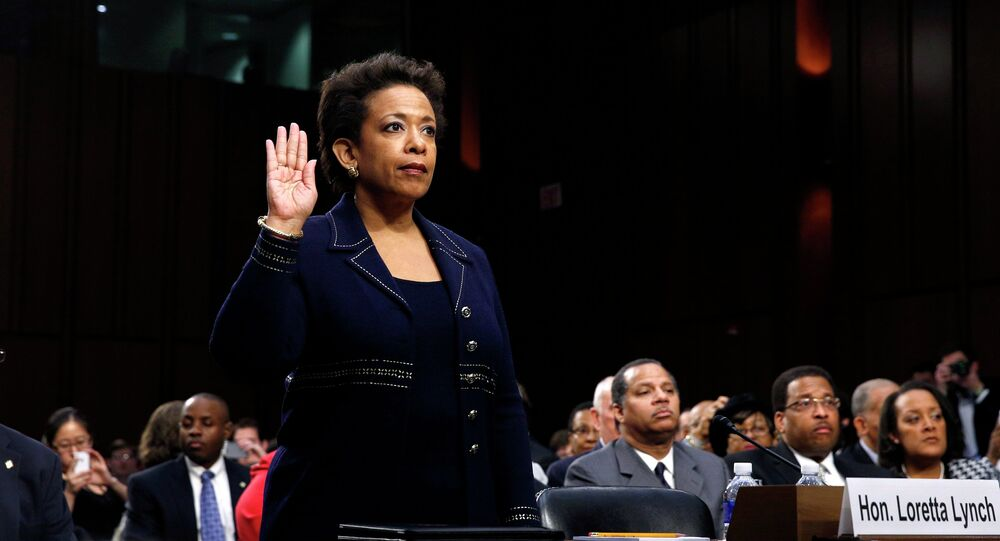 Loretta Lynch is sworn in to testify before a Senate Judiciary Committee confirmation hearing on her nomination to be U.S. attorney general on Capitol Hill in Washington