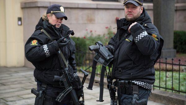 Armed police officers  in Oslo - Sputnik International