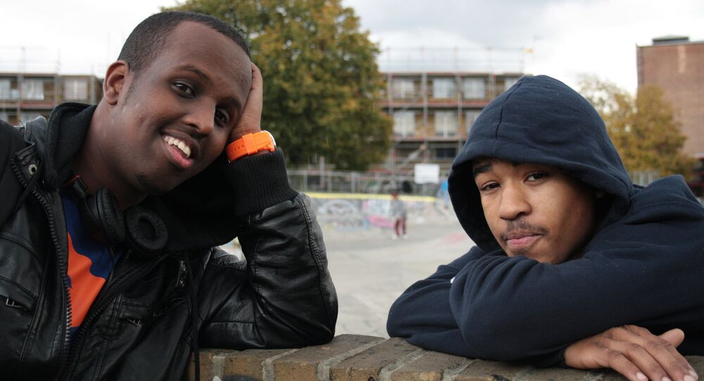 Fixer Mohammed Idle (left, from Kennington) made Breaking the Cycle - a satirical film about gang culture in London, featuring Isaac Stewart - with his friend Dante Powell-Farquharson, from Stockwell, and Fixers. They want to use their own experiences to warn other young people about the risks of joining a gang.