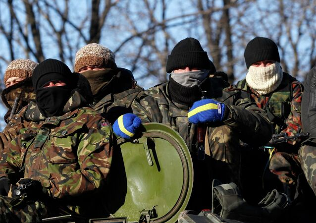 Ukrainian government soldiers