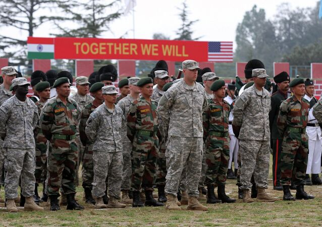 US and Indian Troops Participate in Joint Exercises in Chaubattia, India