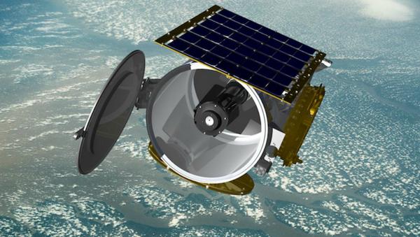 Concept art of a Raytheon small satellite in orbit, file. - Sputnik International