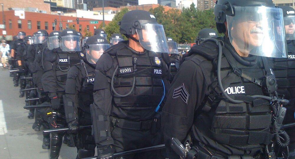 Denver police take position