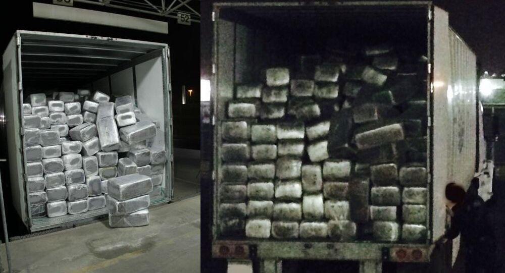 Photos of a massive seizure of marijuana at a San Diego port on Thursday, February 26, 2015