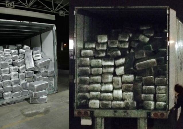 Photos of a massive seizure of marijuana at a San Diego port on Thursday, February 26, 2015
