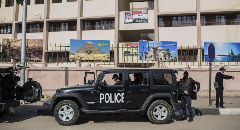 Egyptian police officers
