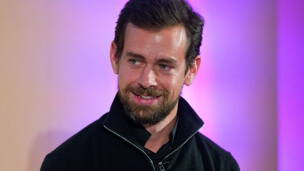 Jack Dorsey, CEO of Square, Chairman of Twitter and a founder of both ,holds an event in London - Sputnik International