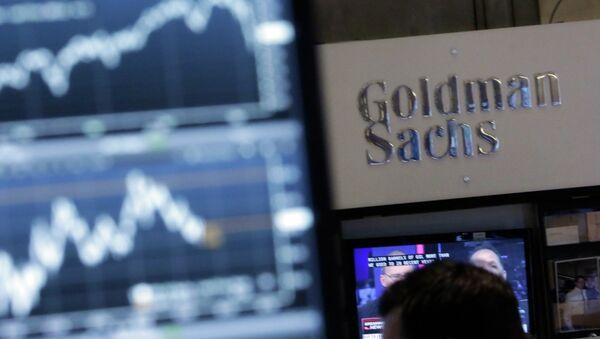 The Goldman Sachs Booth at the New York Stock Exchange - Sputnik International