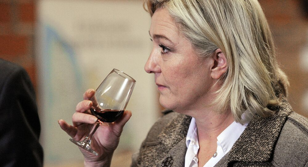 Marine Le Pen, the leader of the French party Front National refused to have a drink or two or to discuss France's political matters with Madonna, the American pop singer.
