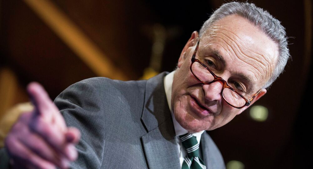 Senator Charles Schumer (D-NY) speaks after a vote on legislation for funding the Department of Homeland Security on Capitol Hill in Washington March 2, 2015