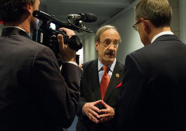 US Congressman Eliot Engel, D-New York, speaksto reporters on Capitol Hill in Washington, DC, September 1, 2013