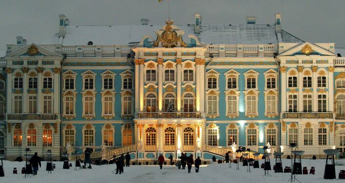 The Catherine Palace, above, was where the Tzarina Elizabeth had the Amber Room installed in 1755 and where officials tried to hide it under painted paper to save it from Nazi looting in 1941, to no avail.
