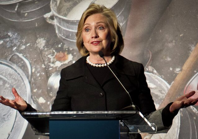 Hillary Rodham Clinton, former US Secretary of State, speaks during her keynote remarks at the Global Alliance for Clean Cookstoves summit