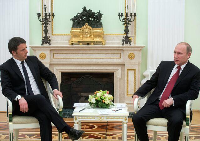 President Putin meets with Italian Prime Minister Renzi
