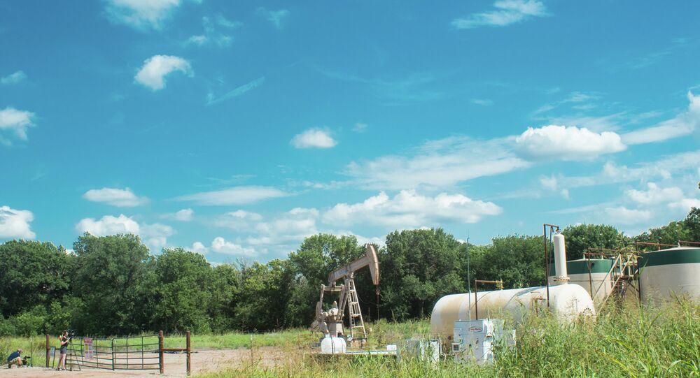 Oil pump jack operating in Oklahoma