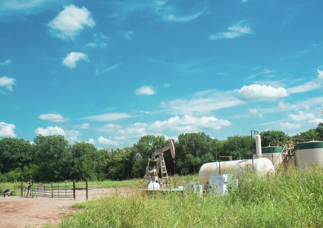 Oil pump jack operating in Oklahoma