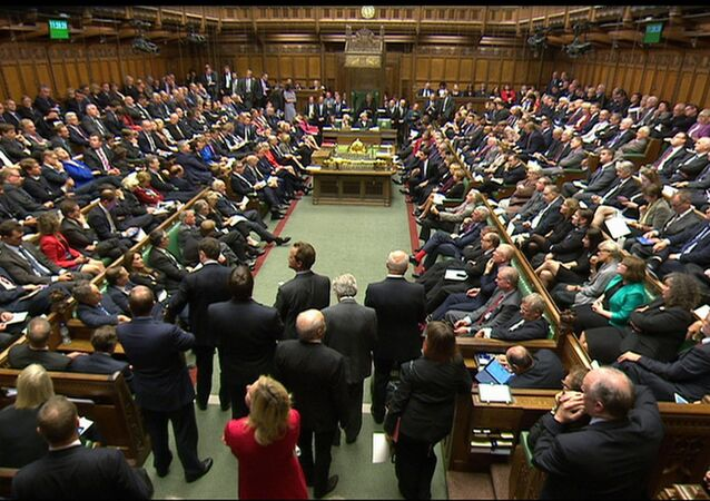 British lawmakers in the Houses of Parliament