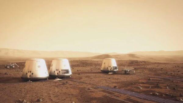 A Mars One colony - Sputnik International