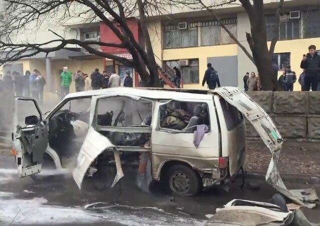 Explosion in Kharkiv