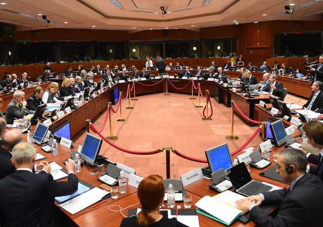 A meeting of Foreign Affairs Council at the European Council headquarters in Brussels