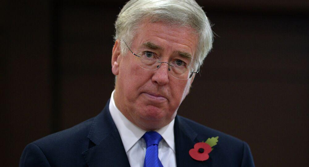 British Secretary of State for Defence Michael Fallon