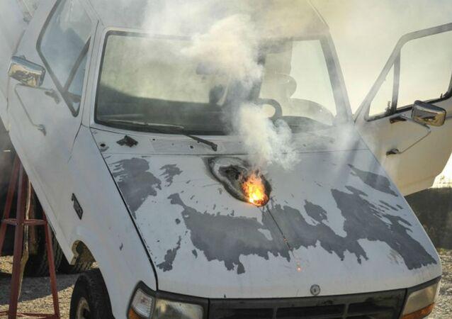 Truck Destroyed by Lockheed Martin Laser