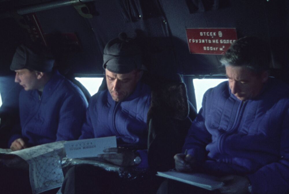 Crew members of space ship Voskhod