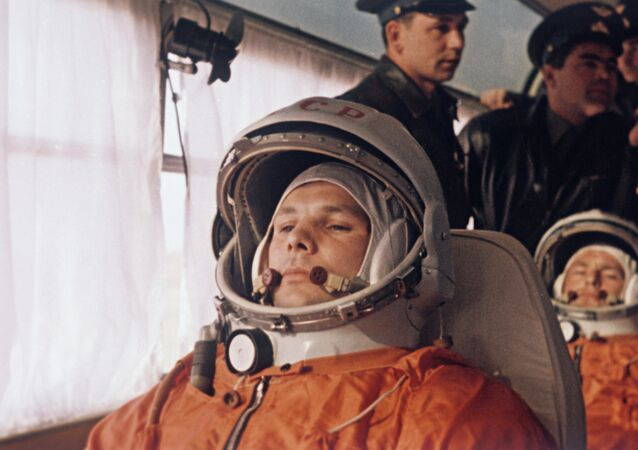 Yuri Gagarin and German Titov
