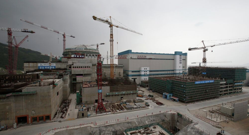 A nuclear reactor and related factilities as part of the Taishan Nuclear Power Plant, to be operated by China Guangdong Nuclear Power (CGN), is seen under construction in Taishan, Guangdong province